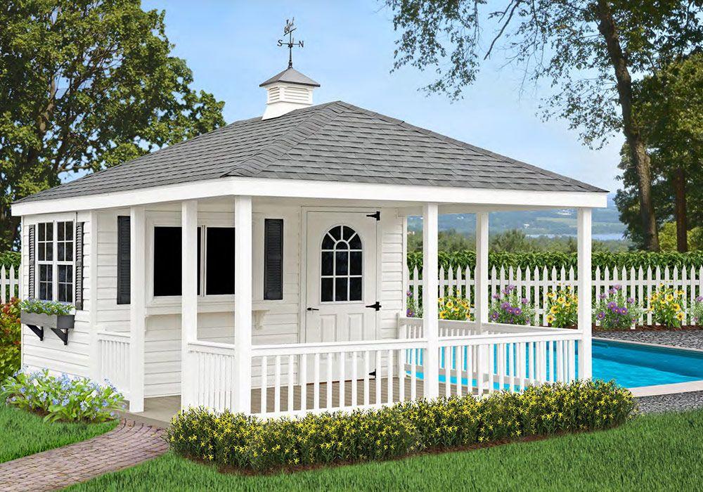 Custom Amishbuilt pool house. Amish sheds, Shed storage