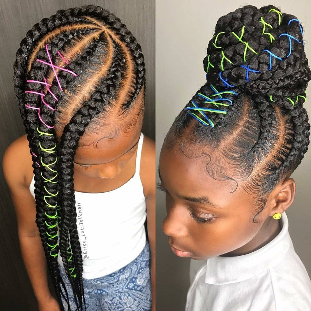 This Is Cute Regrann From Erica Letstalkhair Baby Buns Baby Lemmys Luv Braids For Black Hair Lil Girl Hairstyles Hair Styles