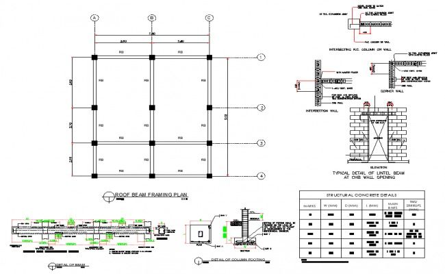 Roof Beam Framing Plan Layout File Roof Beam Beams Roof Detail
