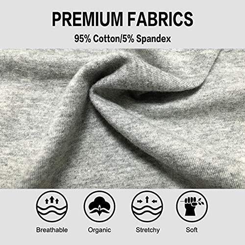 b5ebdab48cdb TALEVE Women's Cotton Underwear High Waist Tummy Control Solid Color Briefs  Panties Pack of 5,