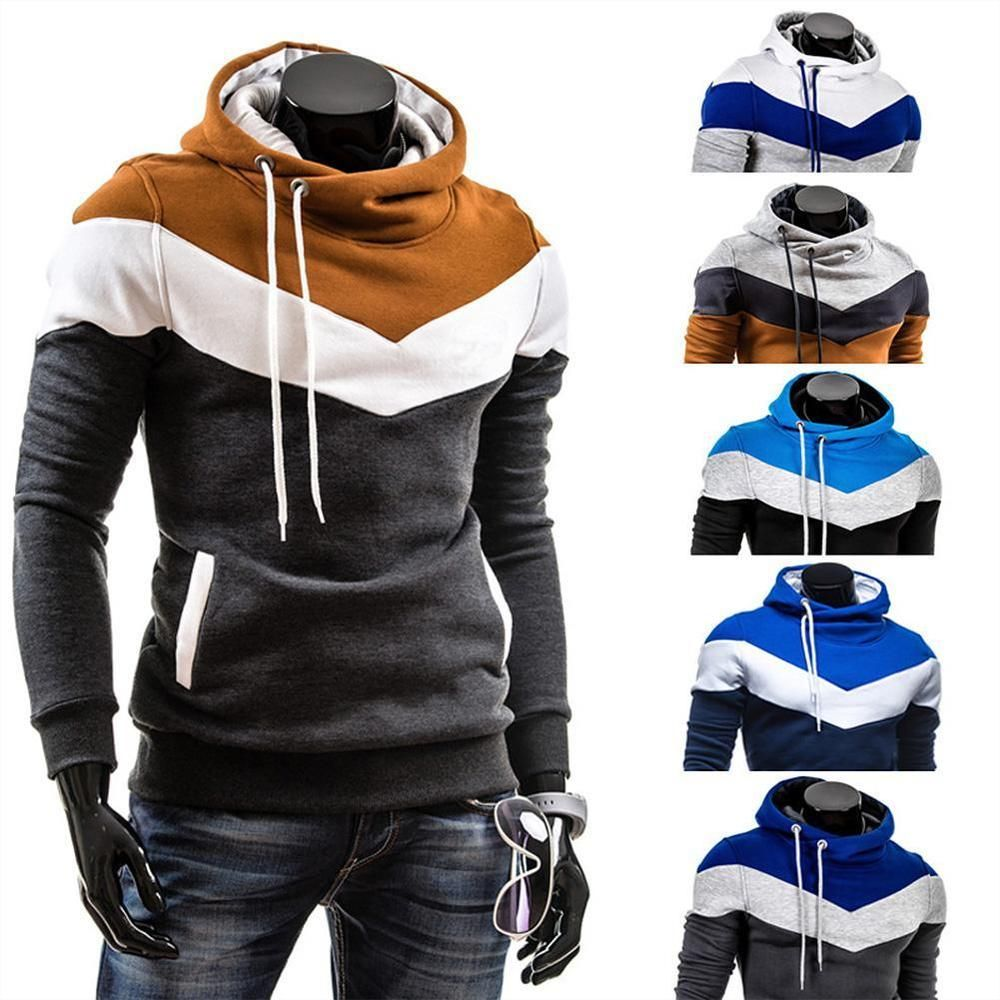 Men's Winter Slim Hoodie Warm Hooded Sweatshirt Coat Jacket