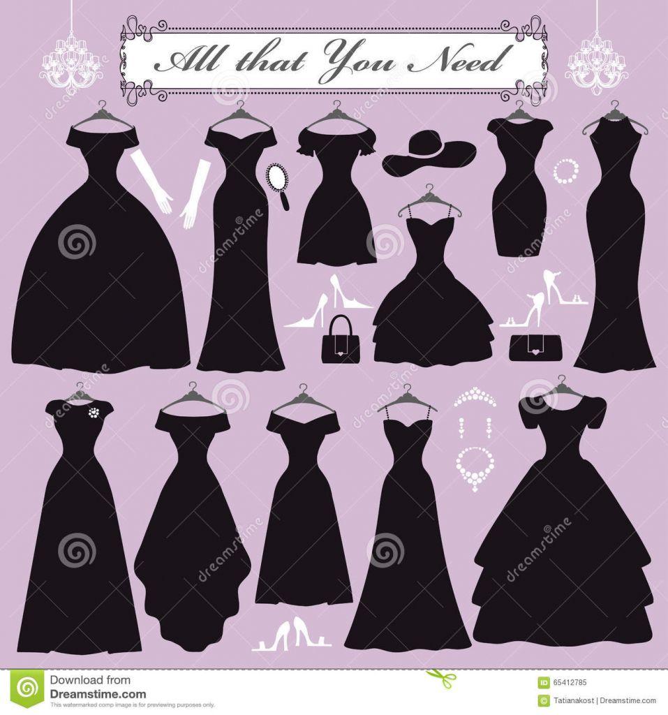 Accessories to black dress vector beautiful dresses pinterest