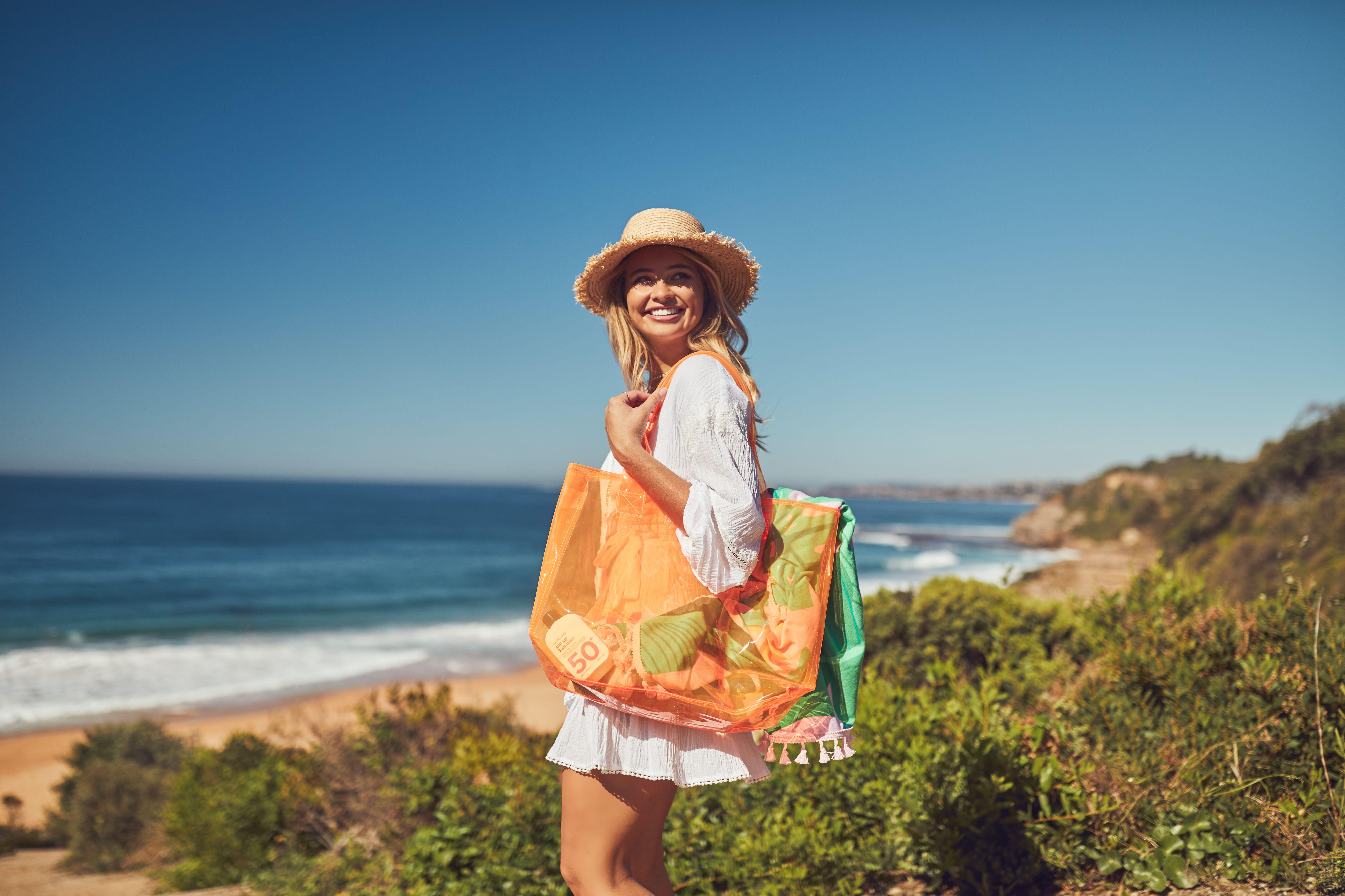 147782248d Sunnylife Market Bag Neon Orange