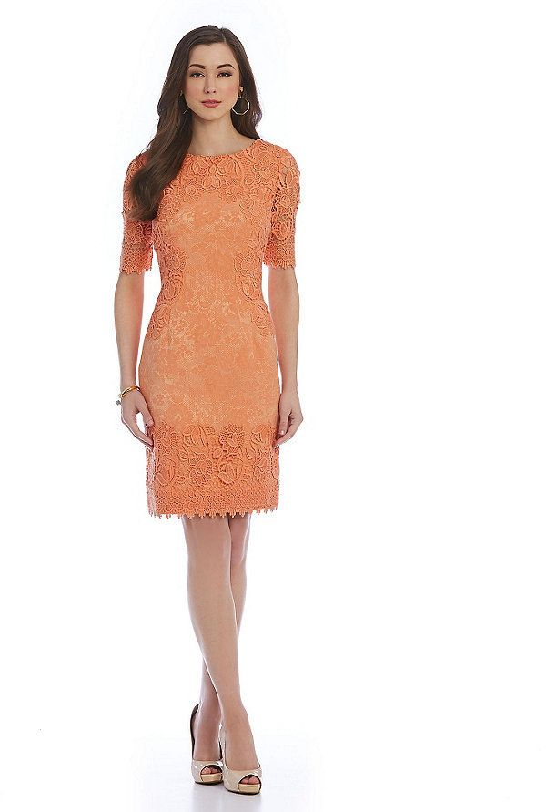 bf321d53edd Antonio Melani Playing Favorites Samson Lace Overlay Dress
