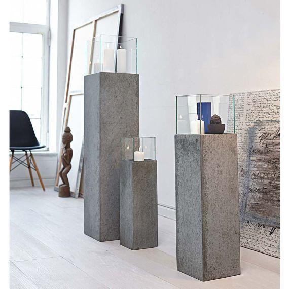 Windlichtsäule, Beton-Optik Deko Pinterest Zement, Deko und - beton basteln garten