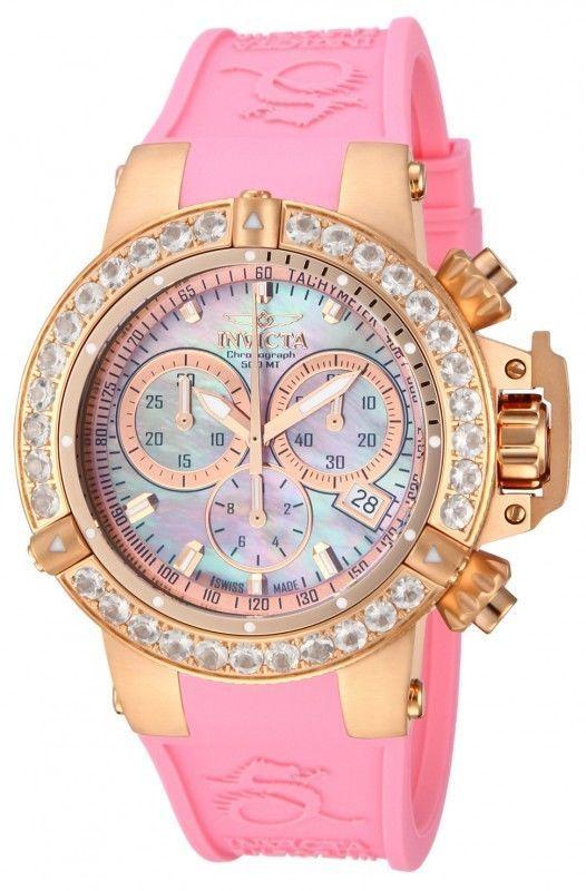 Invicta Womens Subaqua NOMA III Swiss Made Morganite Bezel Rose Gold Pink  Watch fdb314b025