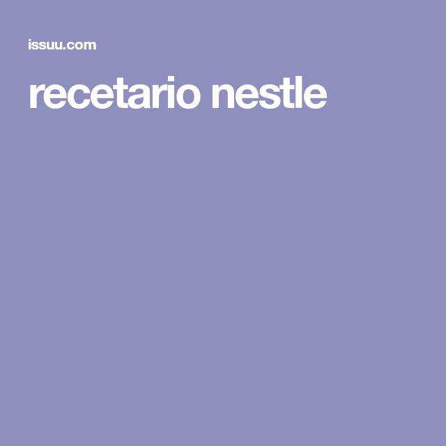 recetario nestle