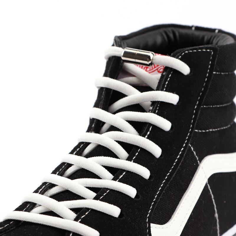 Details about  /1Pair Elastic Locking Shoelaces Round No Tie Shoe Laces Kids Adult Sneakers Shoe