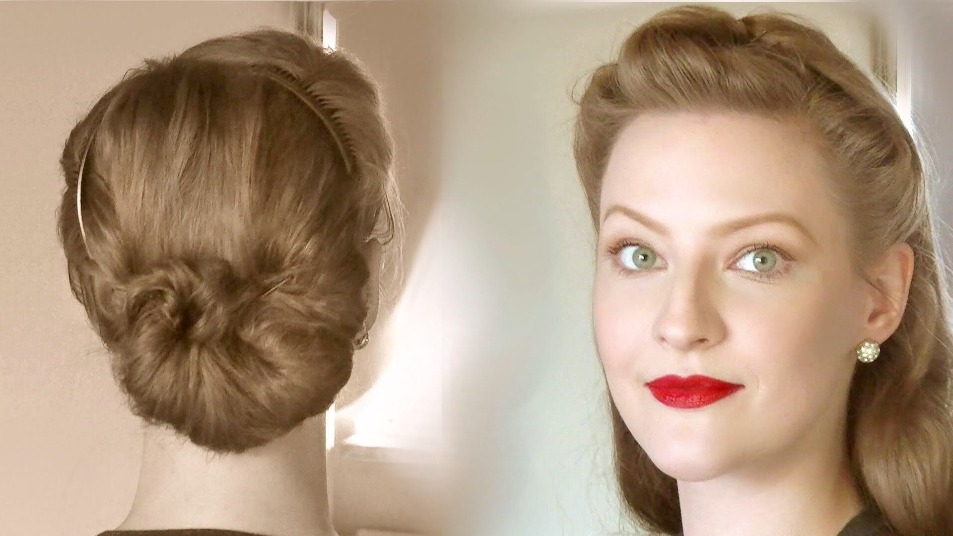 Simple Retro Updos For Everyday Life Different Ages Vintage Hairstyles Tutorial Vintage Hairstyles Retro Hairstyles