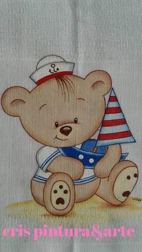 Resultado de imagem para pintura em fralda marinheiro | PINTURA ...