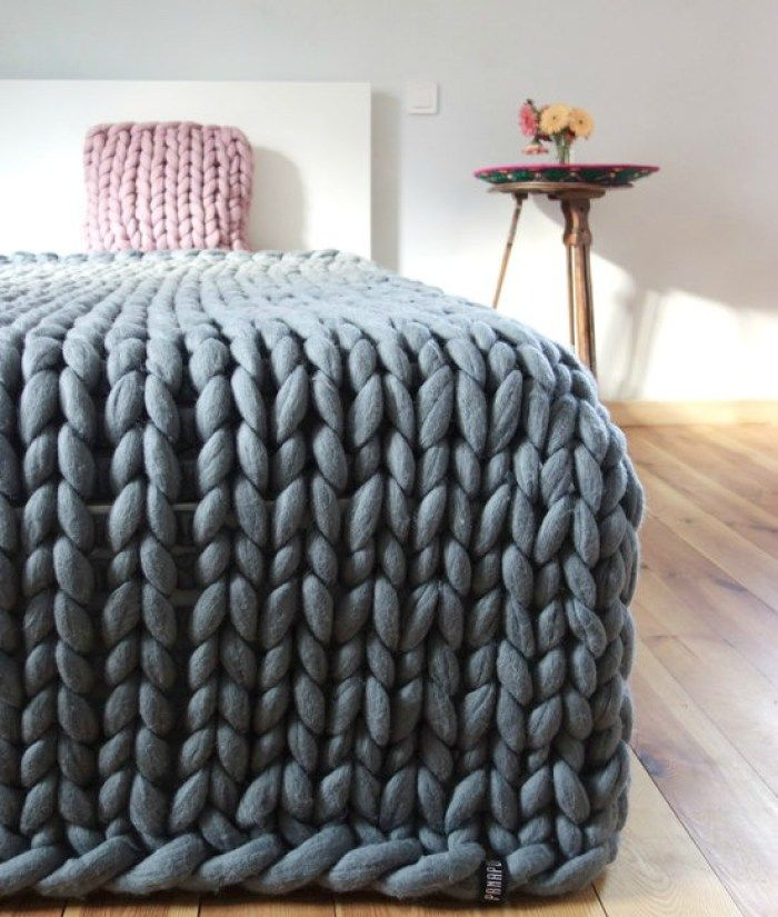 Dress Up Your Home For Fall Chunky Yarn Blanket Knitted