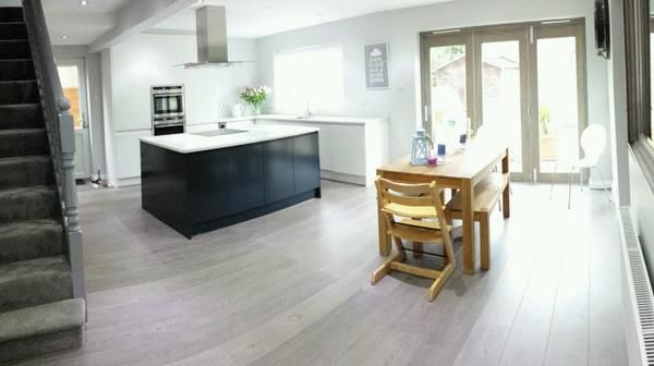 Wren Living: Linda Barker Kitchen - simple, handleless design with a ...