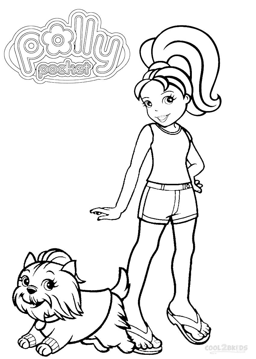 Printable Polly Pocket Coloring Pages For Kids Cool2bkids Polly
