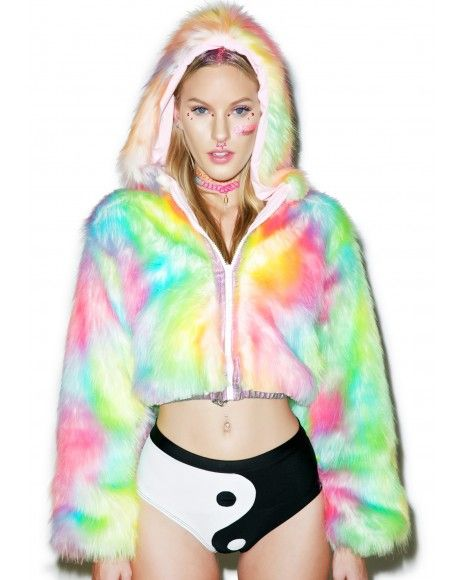 Womens Girls LED Light Up Shining Sparkly Rave Outwear Stage Birthday Fancy Faux Fur Vest Sleeveless Rave Jacket Costume
