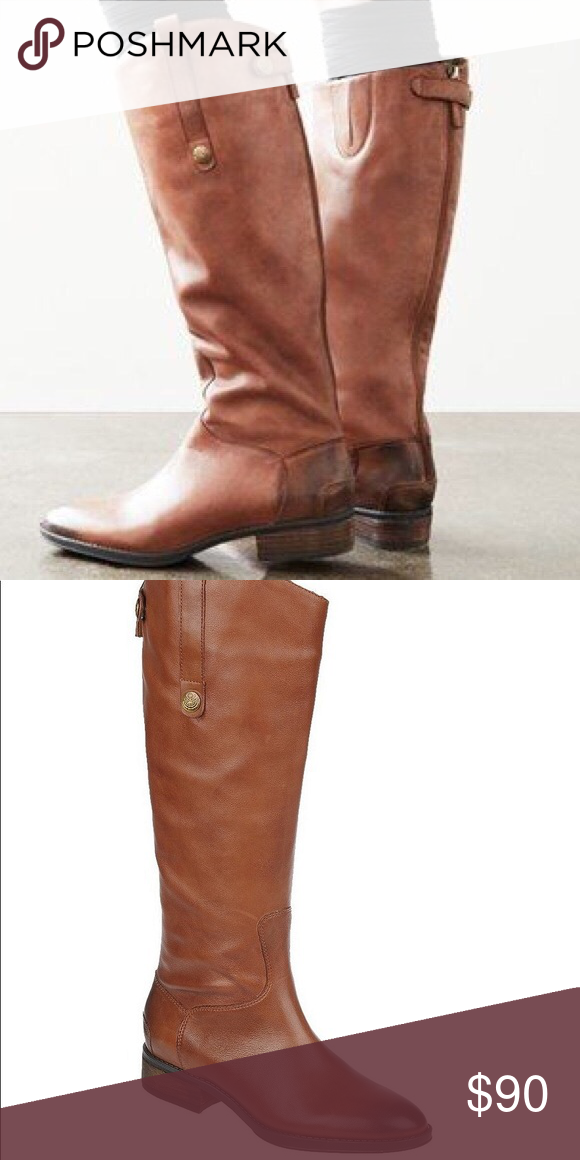 8fc1baee7 Sam Edelman Leather Penny Riding Boots Sam Edelman Leather Knee-high Riding  Boots in Whiskey