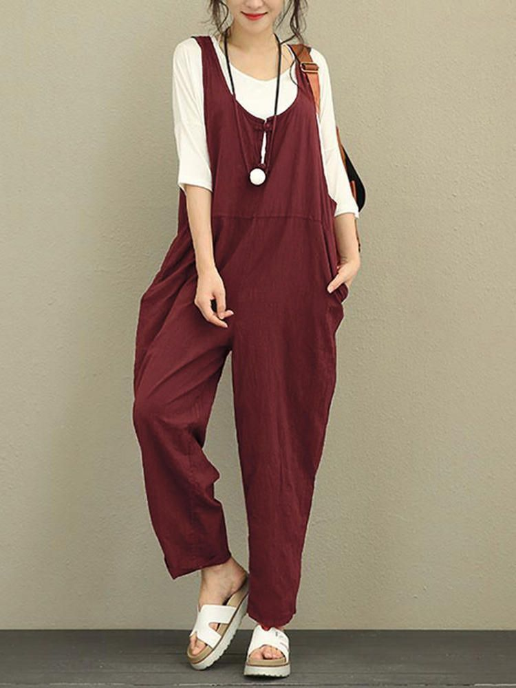 c885770f2ad2 Only US 29.99 shop plus size vintage women cotton jumpsuits at  Banggood.com. Buy fashion jumpsuits   playsuits online. - Banggood Mobile