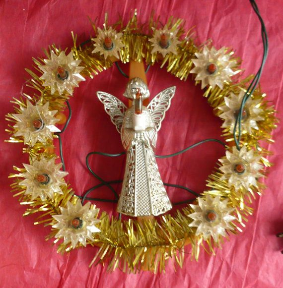 Vintage Christmas Angel Tree Topper Decoration by ShopHereVintage