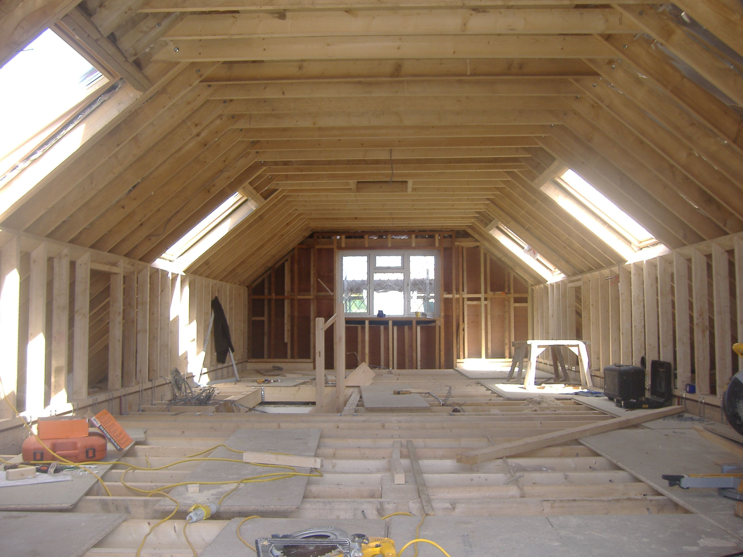 Don T Like Sloping Roofs Maybe This Would Work Loft Conversion Building A Garage Attic Conversion