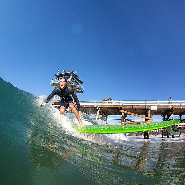 Summertime shenanigans in San Clemente. Tribesman Tommy Witt. Photo by Shawn Parkin. #hippytreetribe #surfandstone