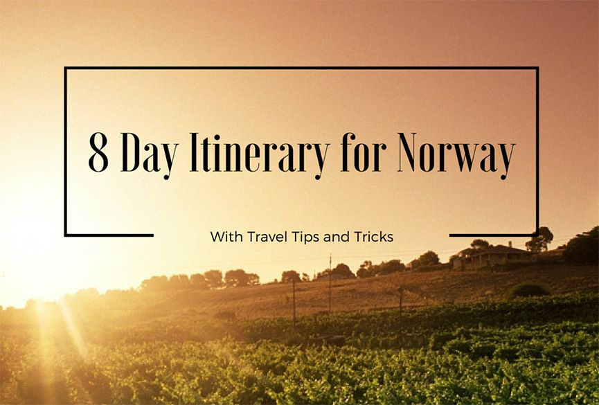 The 8 day itinerary for Norway will tell you everything from how to reach to tips for first time visitors and day by day what to see and things to do,.