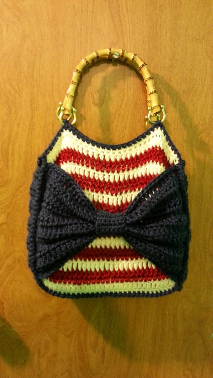 Crochet American Flag Themed Handbag / Purse Video TUTORIAL from BAG-O-DAY CROCHET & MORE