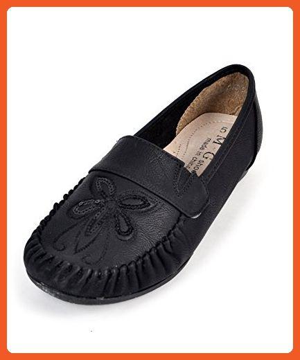 7c7a7ff3126e4 Sequined Floral Women's Shoes (9, Black) - Flats for women (*Amazon ...