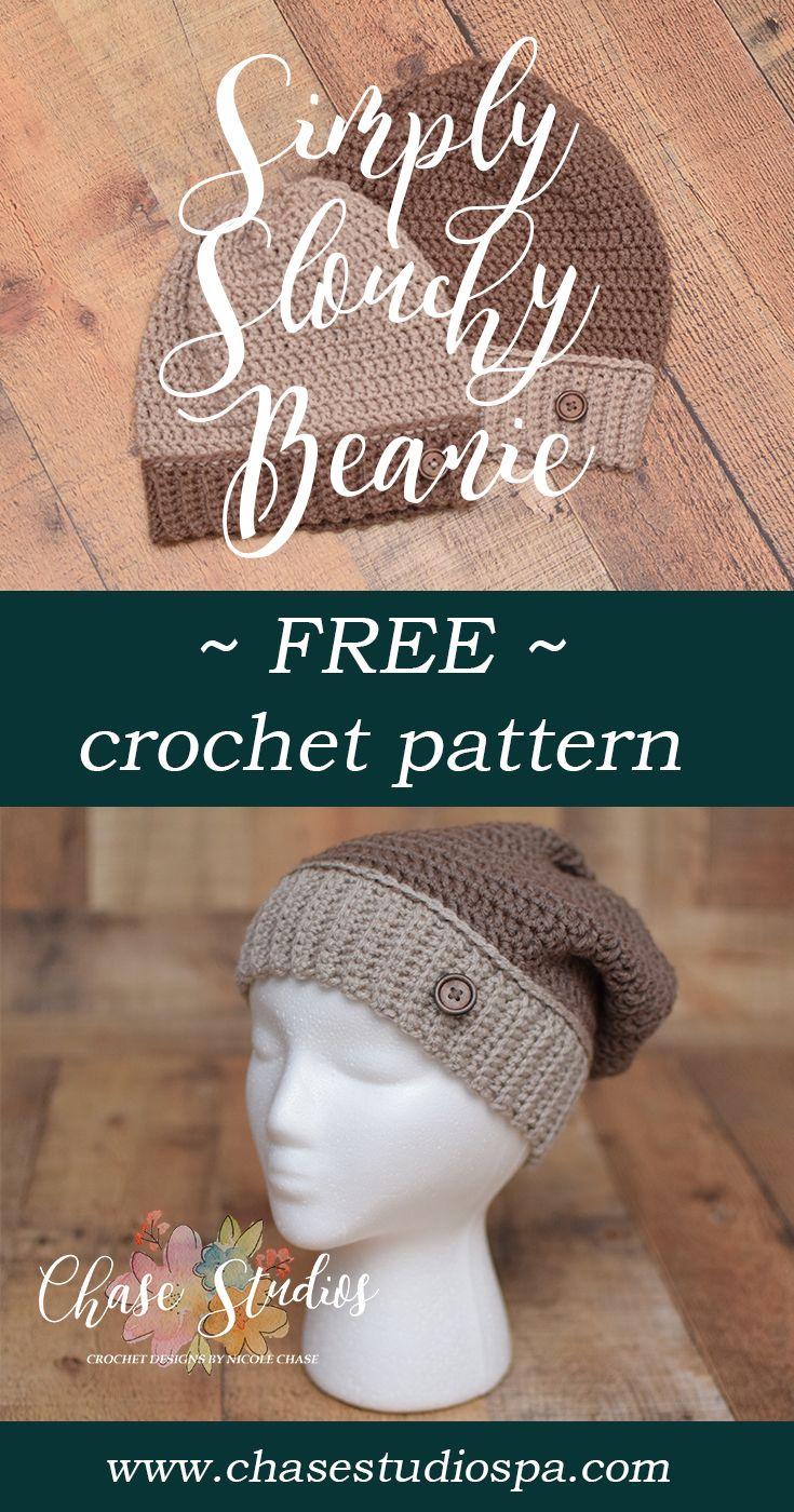 Simply Slouchy Beanie | Crochet - Hats | Pinterest | Gorros