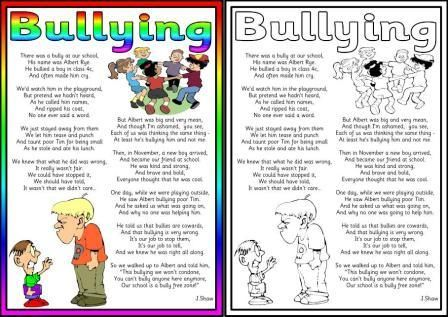 Writing an anti-bullying poem video