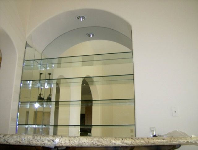 Custom Glass Shelves And Mirror Installation Mission Bay