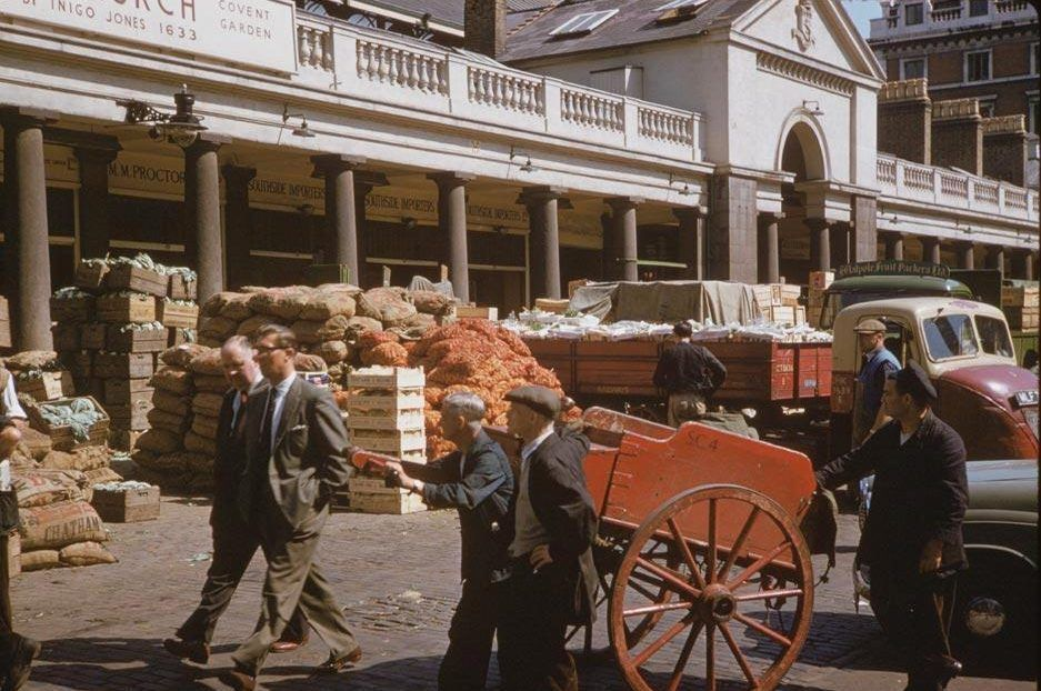 Covent Garden market began as a small fruit and vegetable