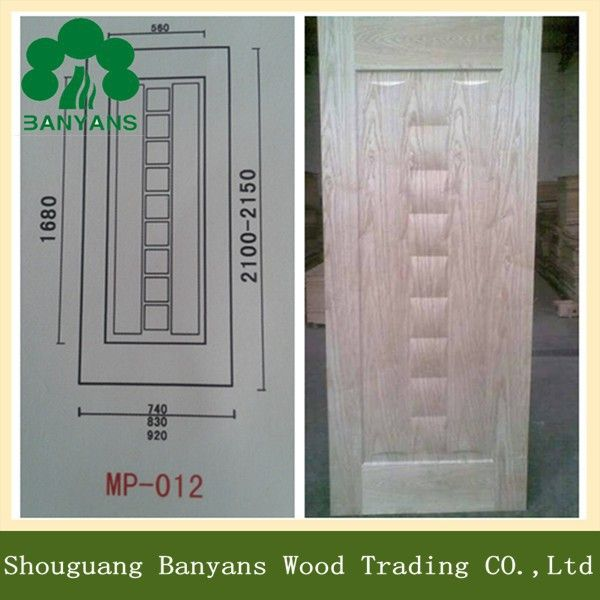 Standard door skin size 4mm hdf mdf sheet for door for Wood veneer garage doors