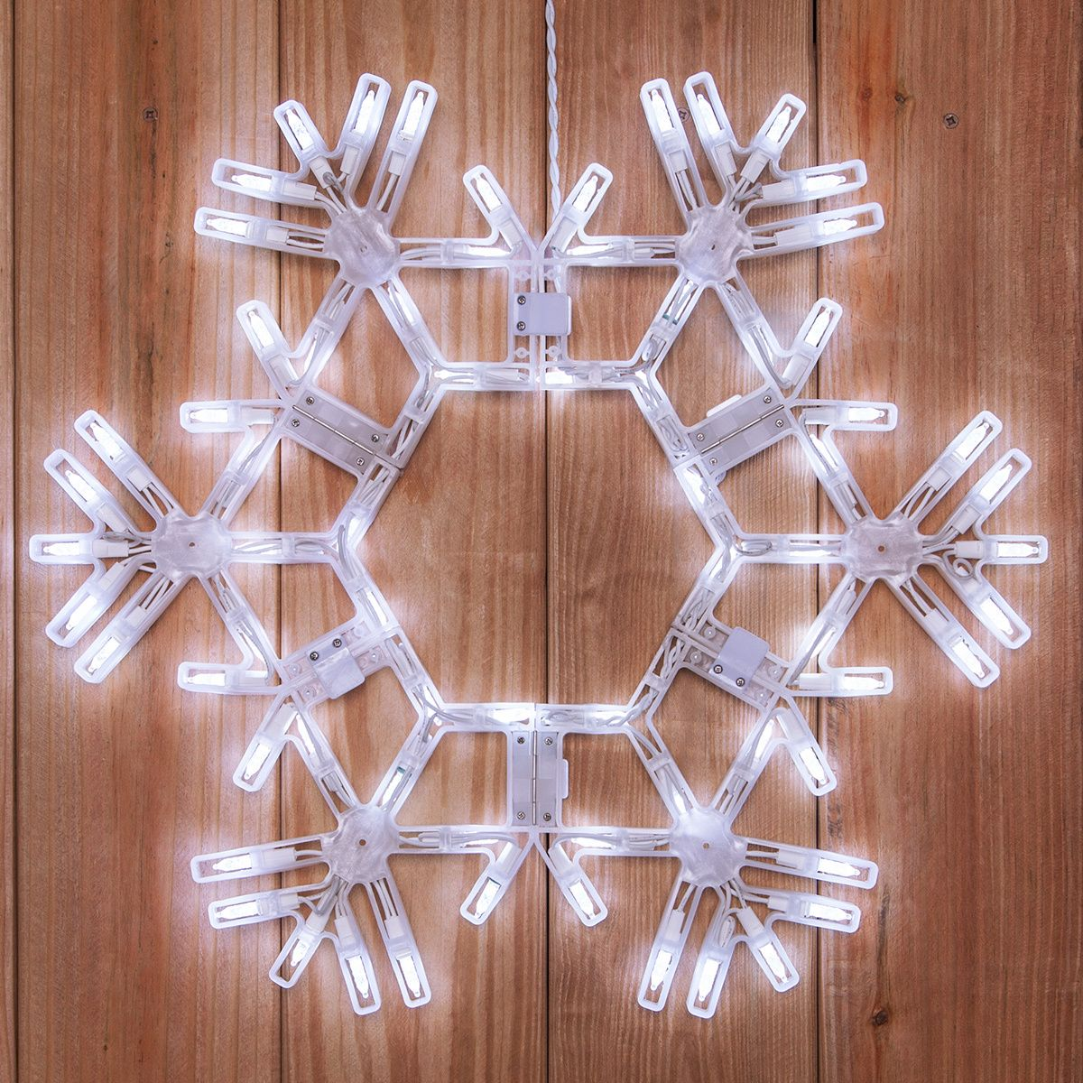 20 led folding snowflake decoration 70 cool white lights 20 led folding snowflake decoration 70 cool white lights aloadofball Image collections