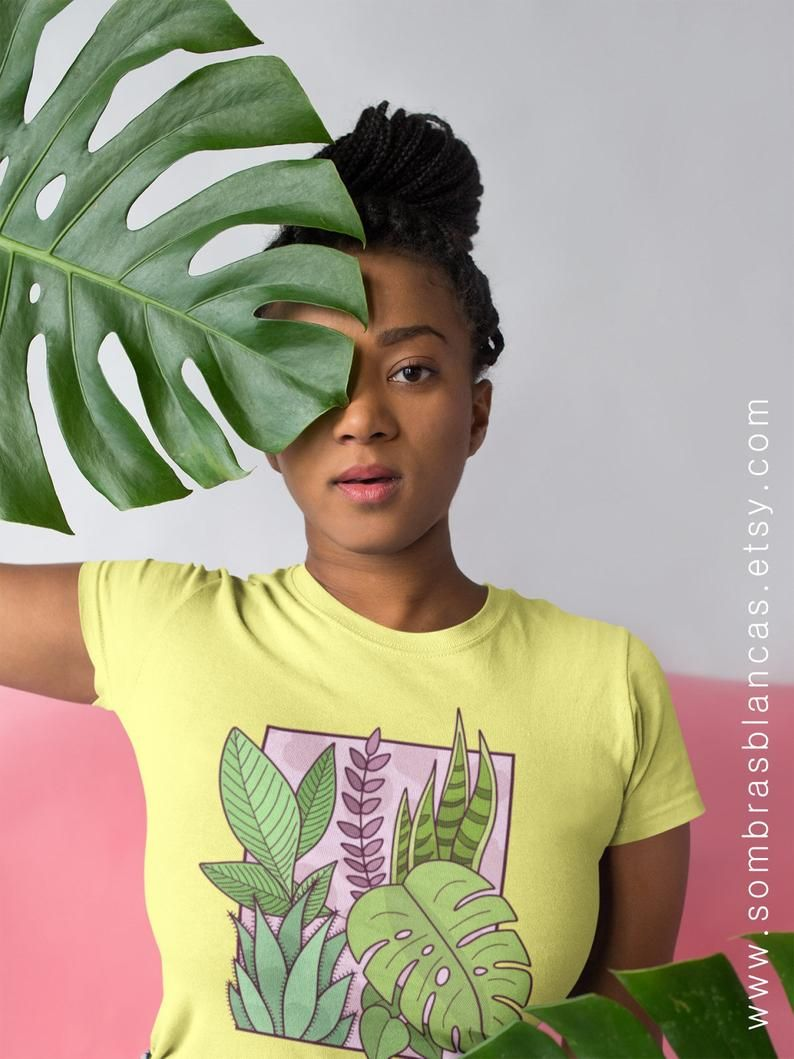 Framed plants tshirt womens fitted tshirt womens