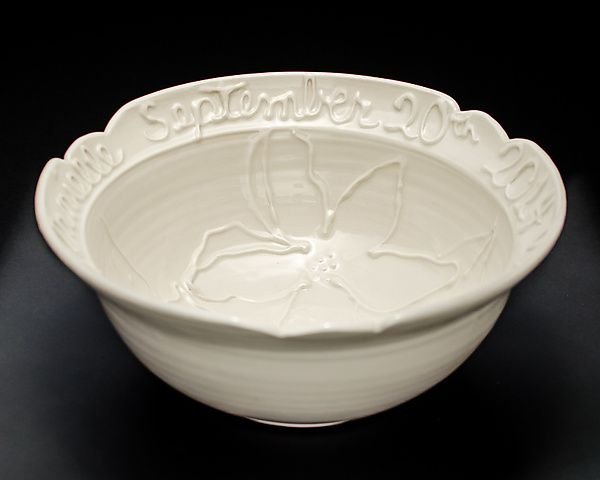 Personalized Wedding Bowl By Lauren Kearns Ceramic Available At Www Artfulhome