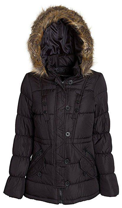 KRISP Womens Classic Short Rain Mac Belted Trench Coat Winter Jacket