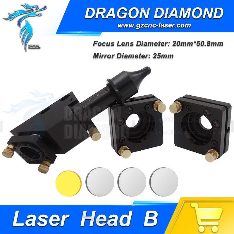 no Mirror /& Lens Co2 Laser Head Mirror /& Focal Lens Intgrative mount 20 25 mm