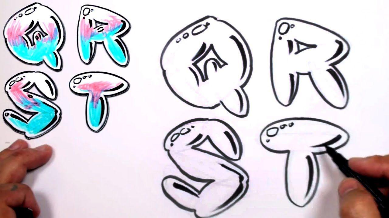 Graffiti letters alphabet bubble letters alphabet q r s t mat