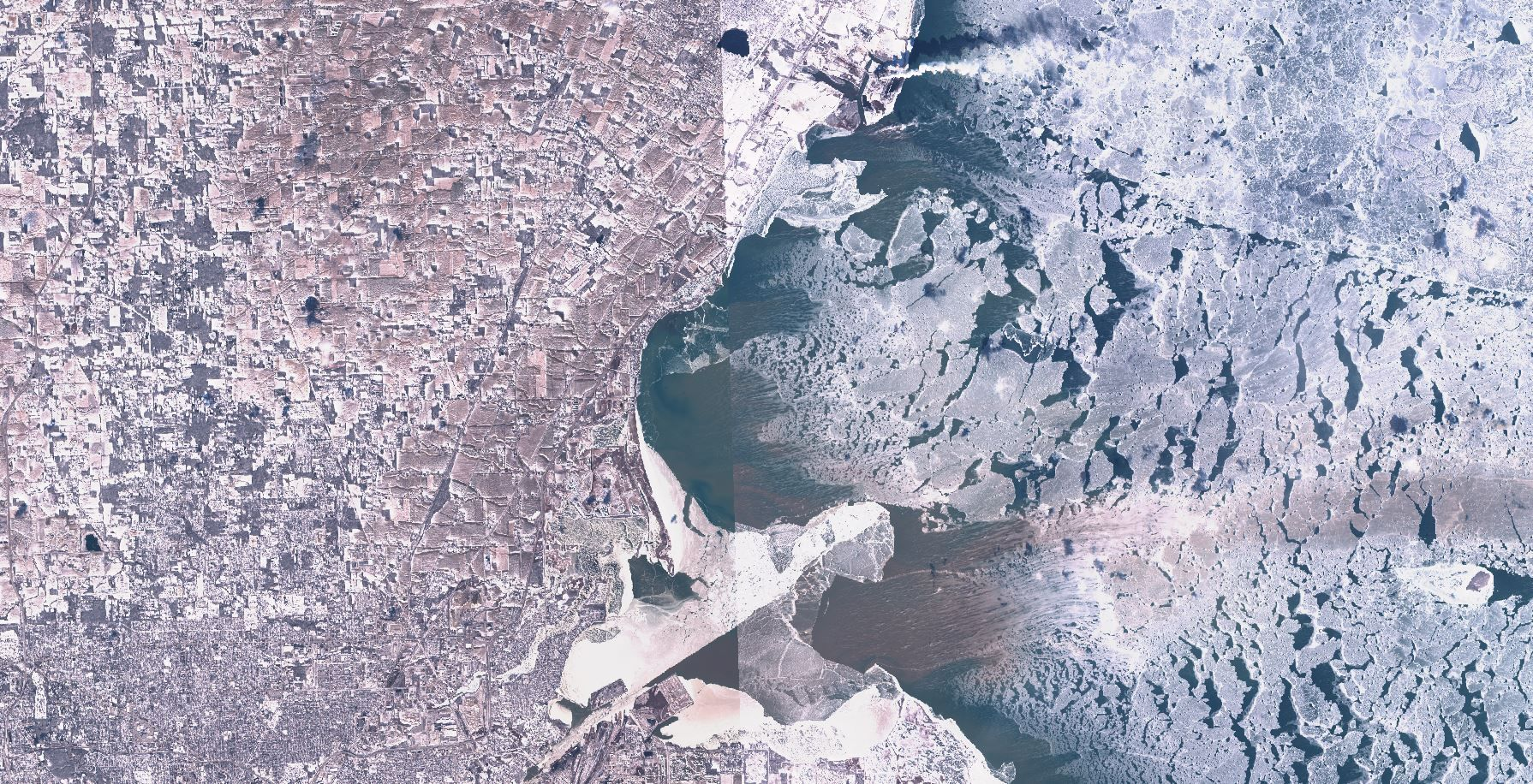 Ice and fire satellite images of extreme weather events