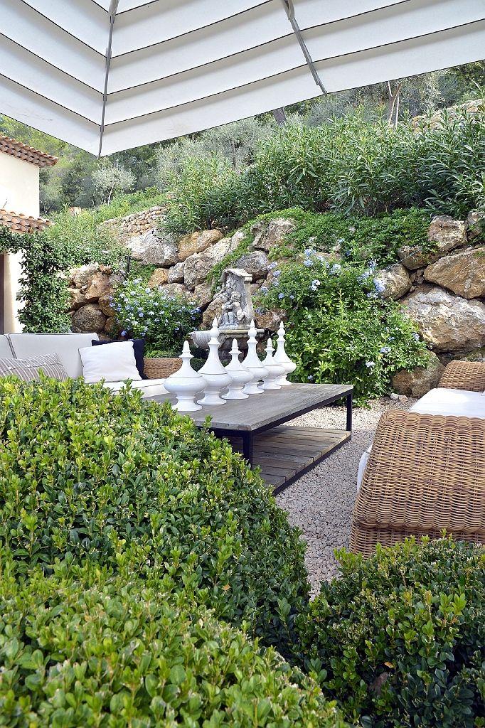 By Zantos Interiors Garden design, France An outside moment