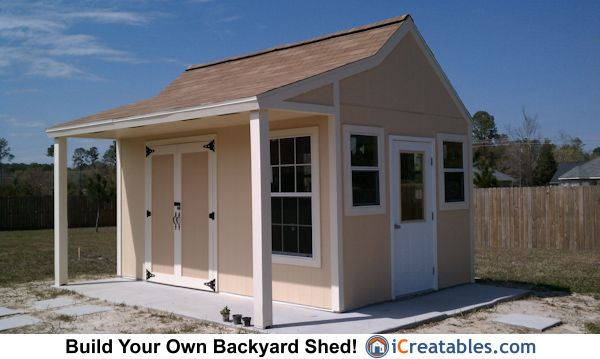 garden shed with front overhang - Google Search Garden Pinterest