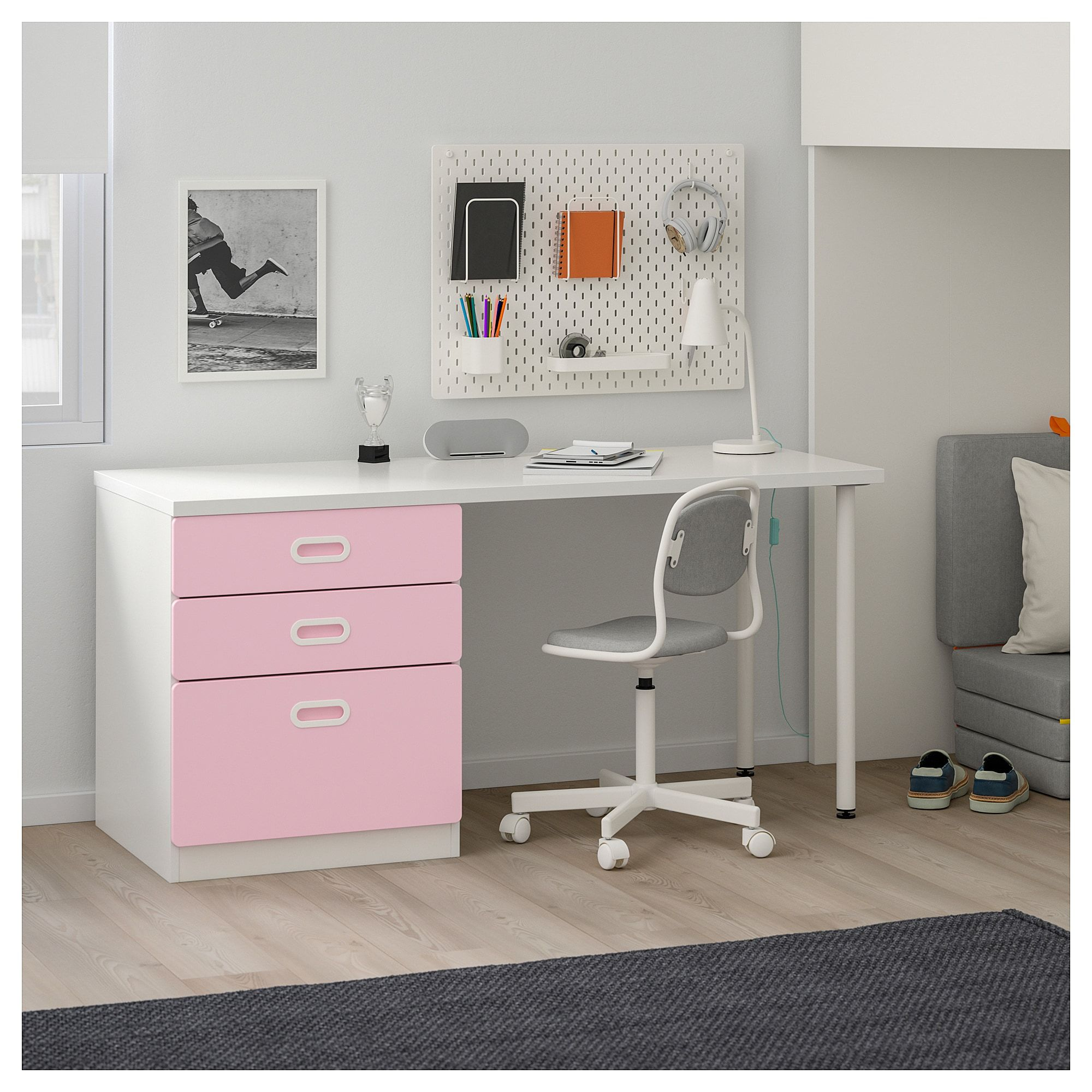 IKEA STUVA / FRITIDS Loft bed with 3 drawers/2 doors