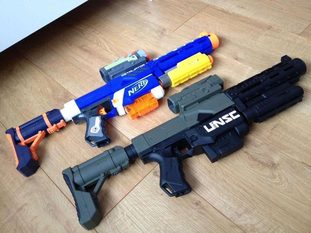 WORKER Mod MP5-K Front Tube Kit 3D Print For Nerf Stryfe Elite Retaliator  Blaster