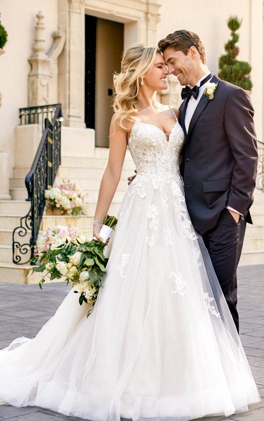 Schillerndes Brautkleid mit Glitzertüll – Stella York Wedding Dresses