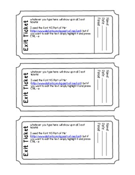 Exit Ticket Exit Slip Template Editable Pdf Form Exit Tickets