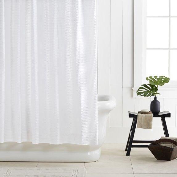 Chambers Waffle Shower Curtain Curtains Shower Bathroom