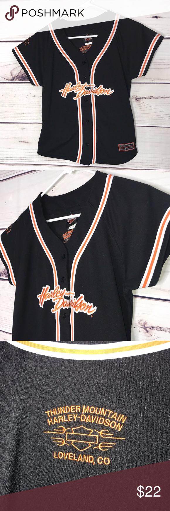 efe83065f Harley Davidson Baseball Jersey Shirt Youth Medium Harley Davidson Baseball  Jersey Shirt Youth Medium Thunder Mountain Harley-Davidson Loveland, ...