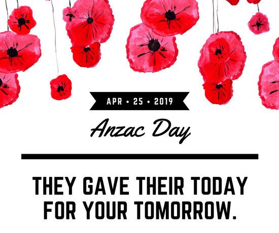 Black, White, and Red Flowers Anzac Day Quote Facebook post ...