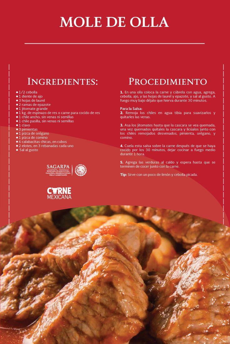 Mole De Olla Sagarpa Sagarpamx Recetas De Comida Mexicana