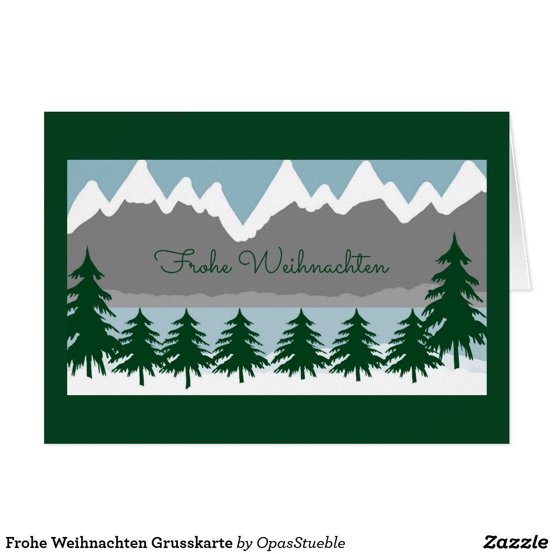 Frohe Weihnachten Grusskarte Card | Texts and Create