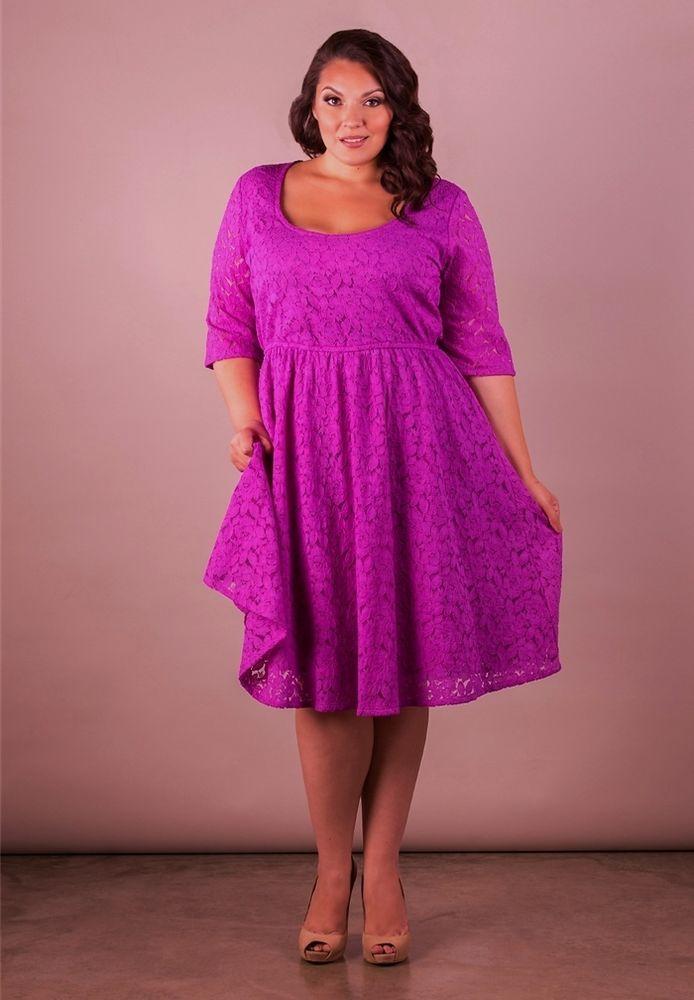 Plus Size Dress Black Lace Short Sleeve Scoop Neck 1x 6x Blue